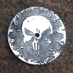 """Punisher""  Ø 28,5 mm - engraved dial - zifferblatt - clock face - stainless steel"