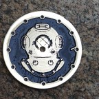 """ Diver helmet""  Ø 28,5 mm - engraved dial for Seiko - zifferblatt - clock face - stainless steel"
