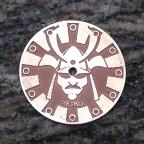 """Samurai""""  Ø 28,5 mm - engraved dial - zifferblatt - clock face - stainless steel"""
