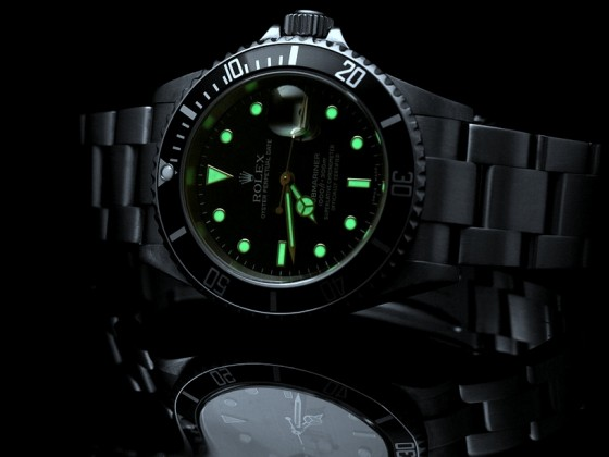 Rolex Submariner 16610 lume
