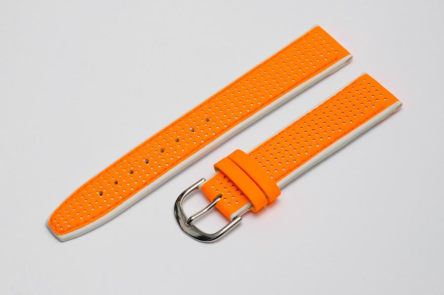 Gumený oranžový remienok s bezpečnostnou sponou - veľkosť 22 mm - 1 kus - 5  EUR - predané a64c009bee3